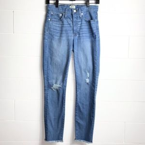 J Crew High-Rise Toothpick Distressed Jeans